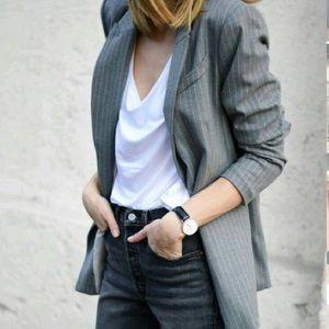 YSL pin stripe blazer